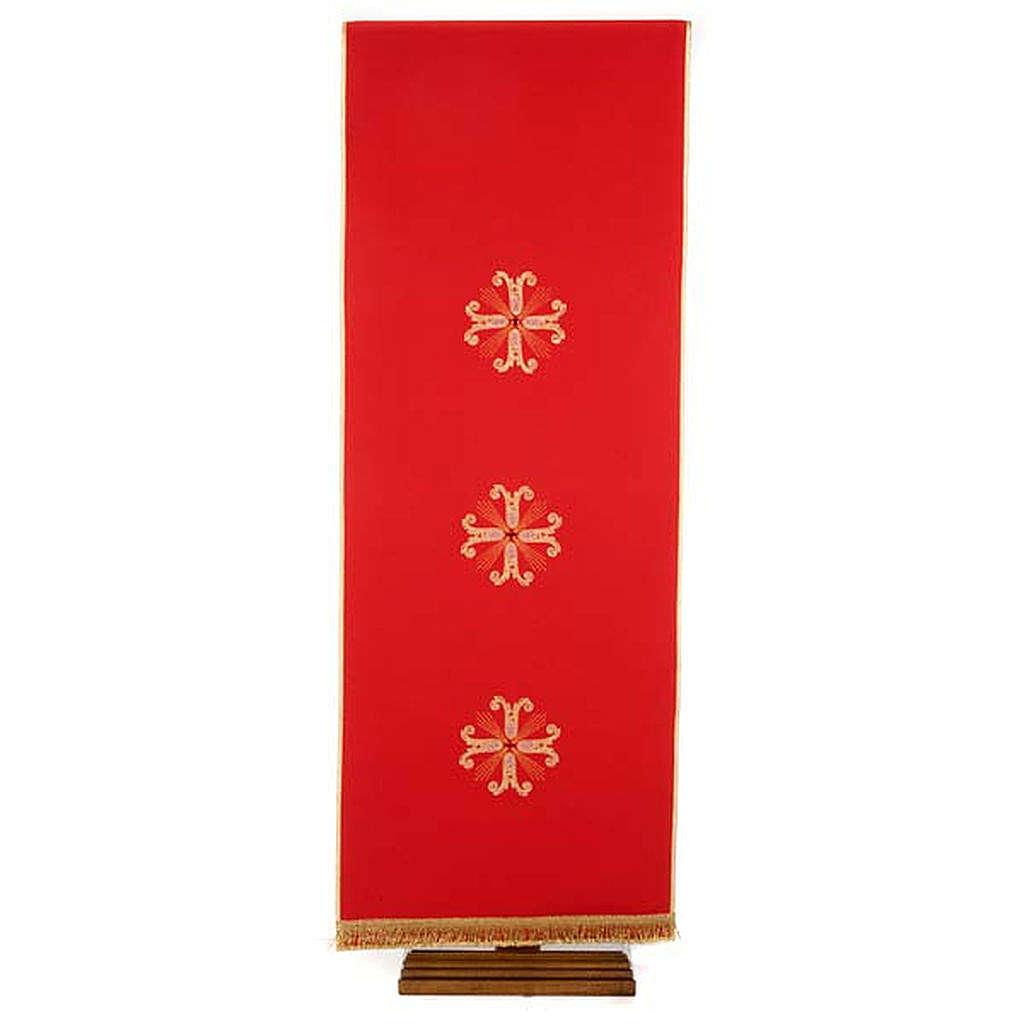 Cubre atril 3 cruces doradas piedra de vidrio 4