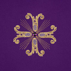 Cubre atril 3 cruces doradas piedra de vidrio s5