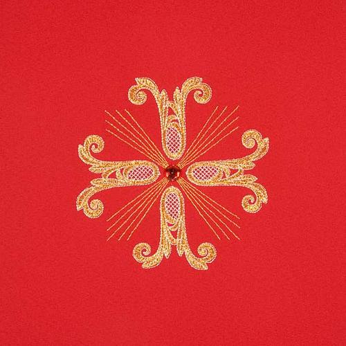 Cubre atril 3 cruces doradas piedra de vidrio 9