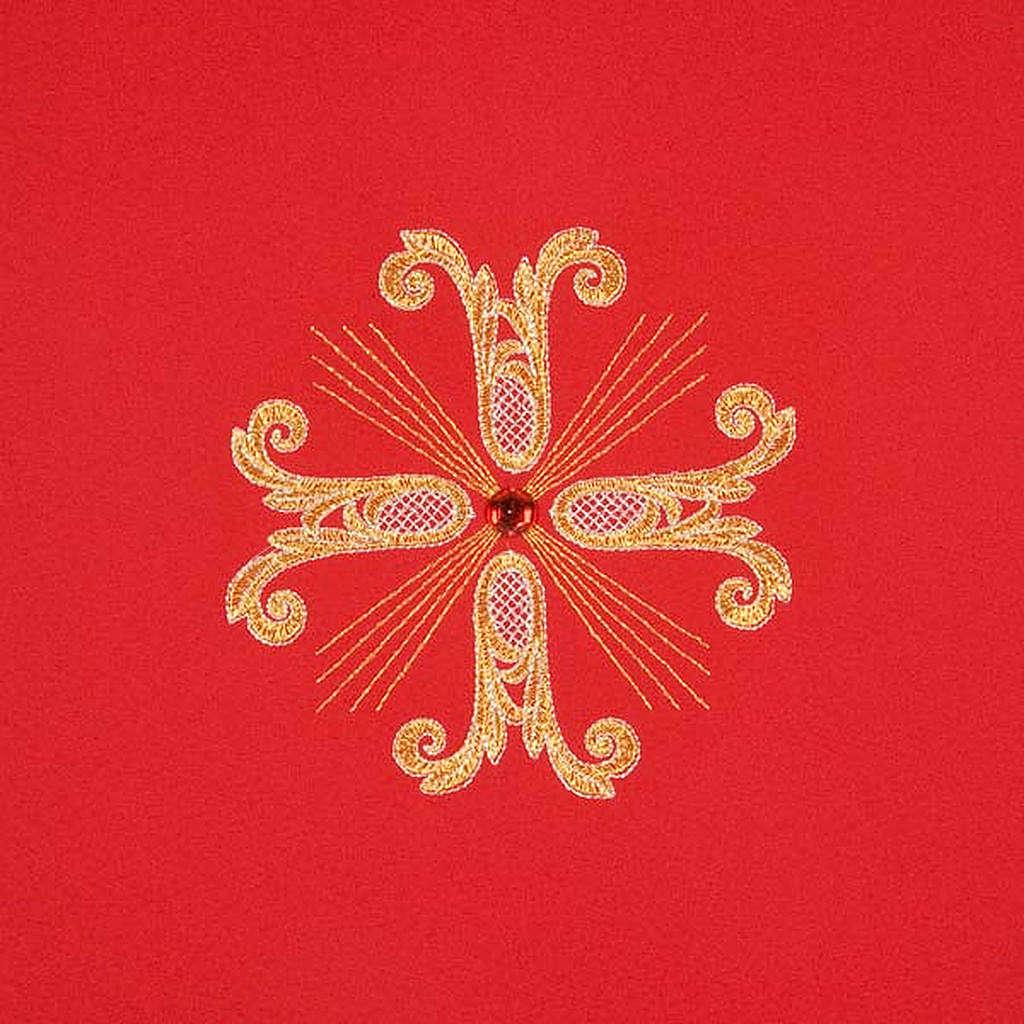 Coprileggio 3 croci dorate perline vetro 4