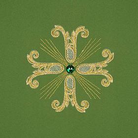Coprileggio 3 croci dorate perline vetro s3