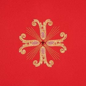 Coprileggio 3 croci dorate perline vetro s9