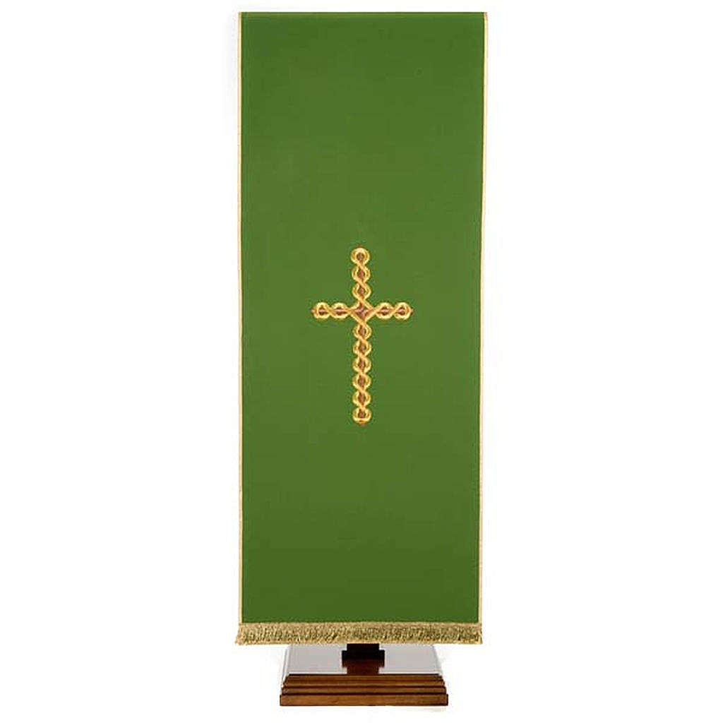 Lectern Cover, embroidered twisted cross 4