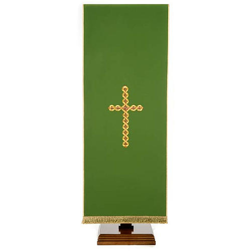 Lectern Cover, embroidered twisted cross 1