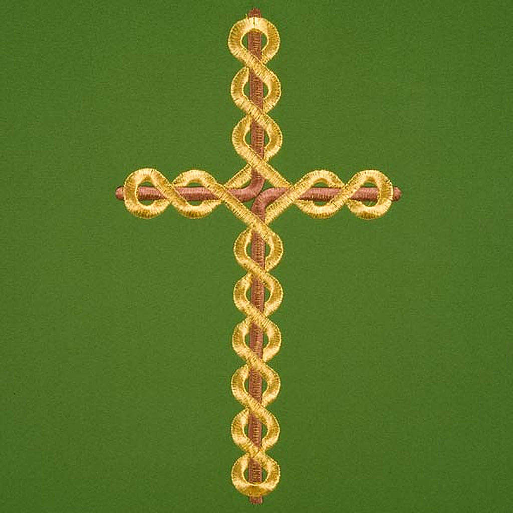 Twisted cross pulpit cover, polyester 4