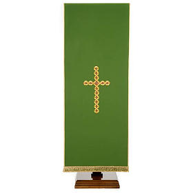 Twisted cross pulpit cover, polyester s1