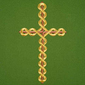 Twisted cross pulpit cover, polyester s3