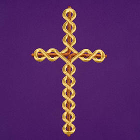Twisted cross pulpit cover, polyester s6