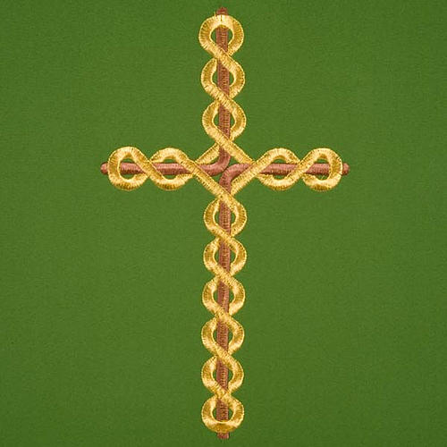Twisted cross pulpit cover, polyester 3
