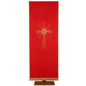 Serweta na lektorium IHS i promienie kolory liturgiczne s5