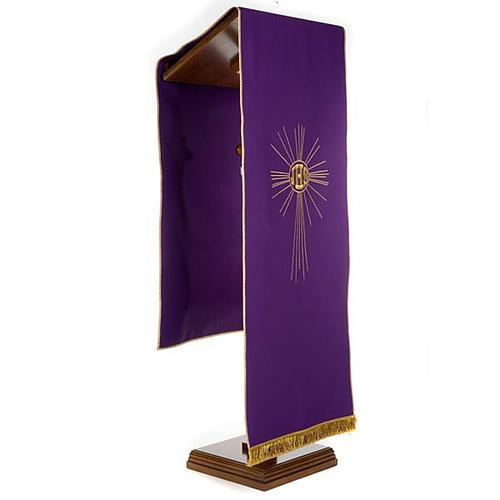 Serweta na lektorium IHS i promienie kolory liturgiczne 2