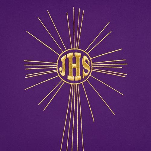 Serweta na lektorium IHS i promienie kolory liturgiczne 3