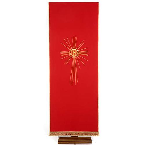 Serweta na lektorium IHS i promienie kolory liturgiczne 5
