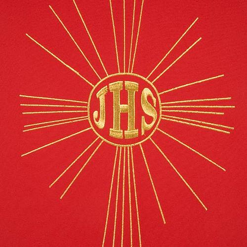 Serweta na lektorium IHS i promienie kolory liturgiczne 6