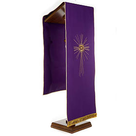 Pulpit cover with embroidered IHS and halo of rays s2