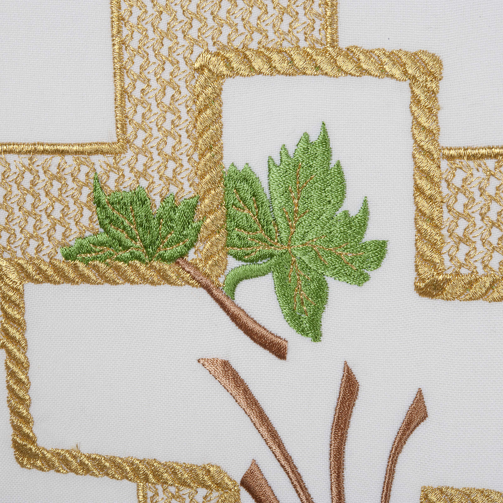 Lectern Cover, cross, grapes, wheat, in liturgical colours 4