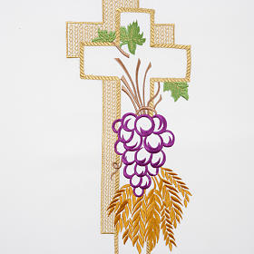 Lectern Cover, cross, grapes, wheat, in liturgical colours s2