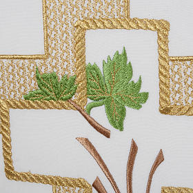 Lectern Cover, cross, grapes, wheat, in liturgical colours s3