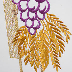 Lectern Cover, cross, grapes, wheat, in liturgical colours s4