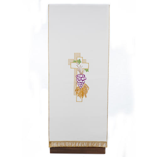 Lectern Cover, cross, grapes, wheat, in liturgical colours 1