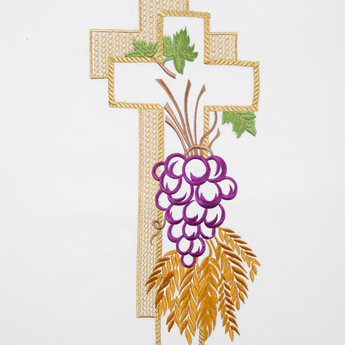Lectern Cover, cross, grapes, wheat, in liturgical colours 2