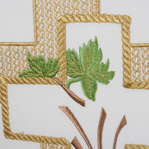 Lectern Cover, cross, grapes, wheat, in liturgical colours 3
