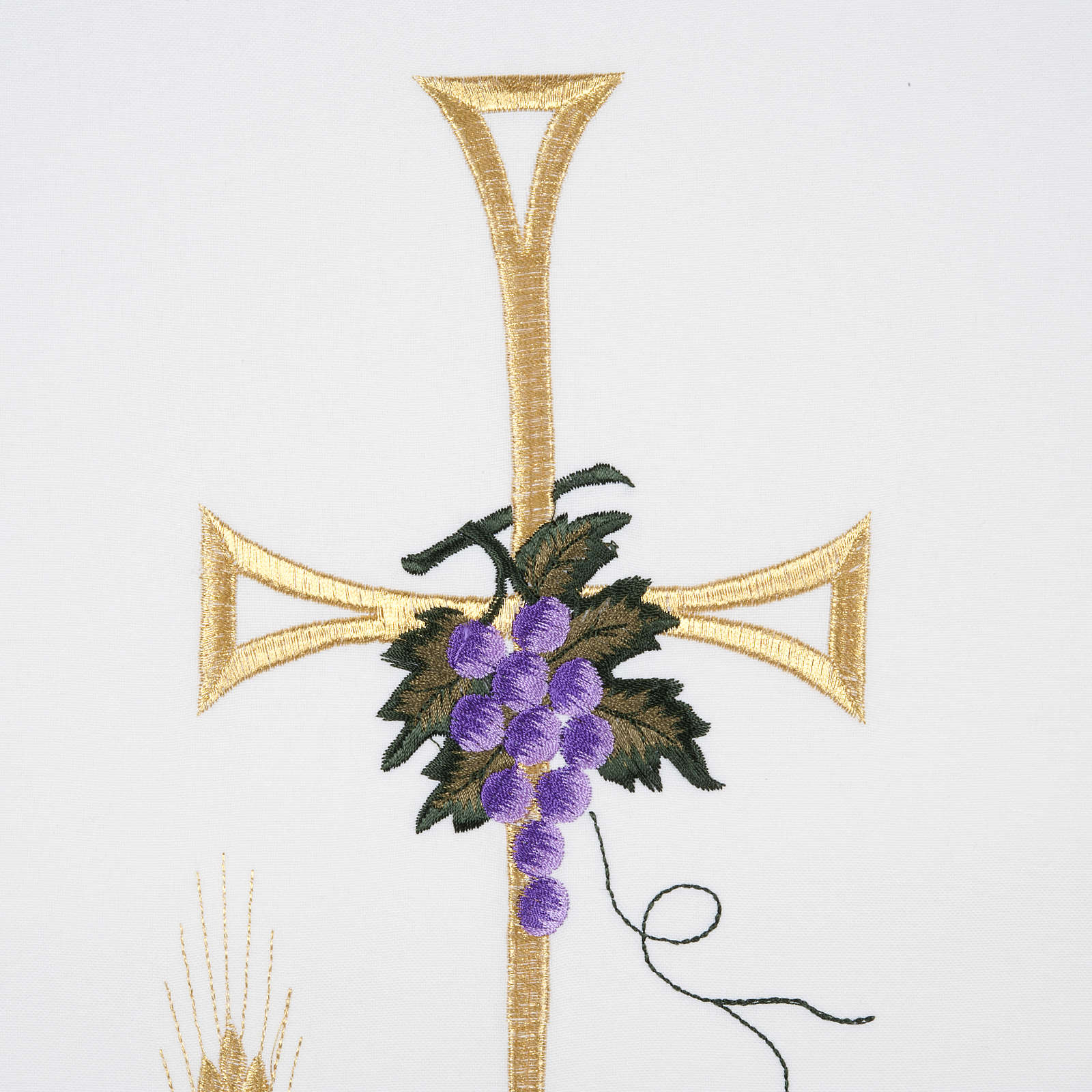 Lamp, grapes, wheat, cross pulpit cover in all liturgical colors 4