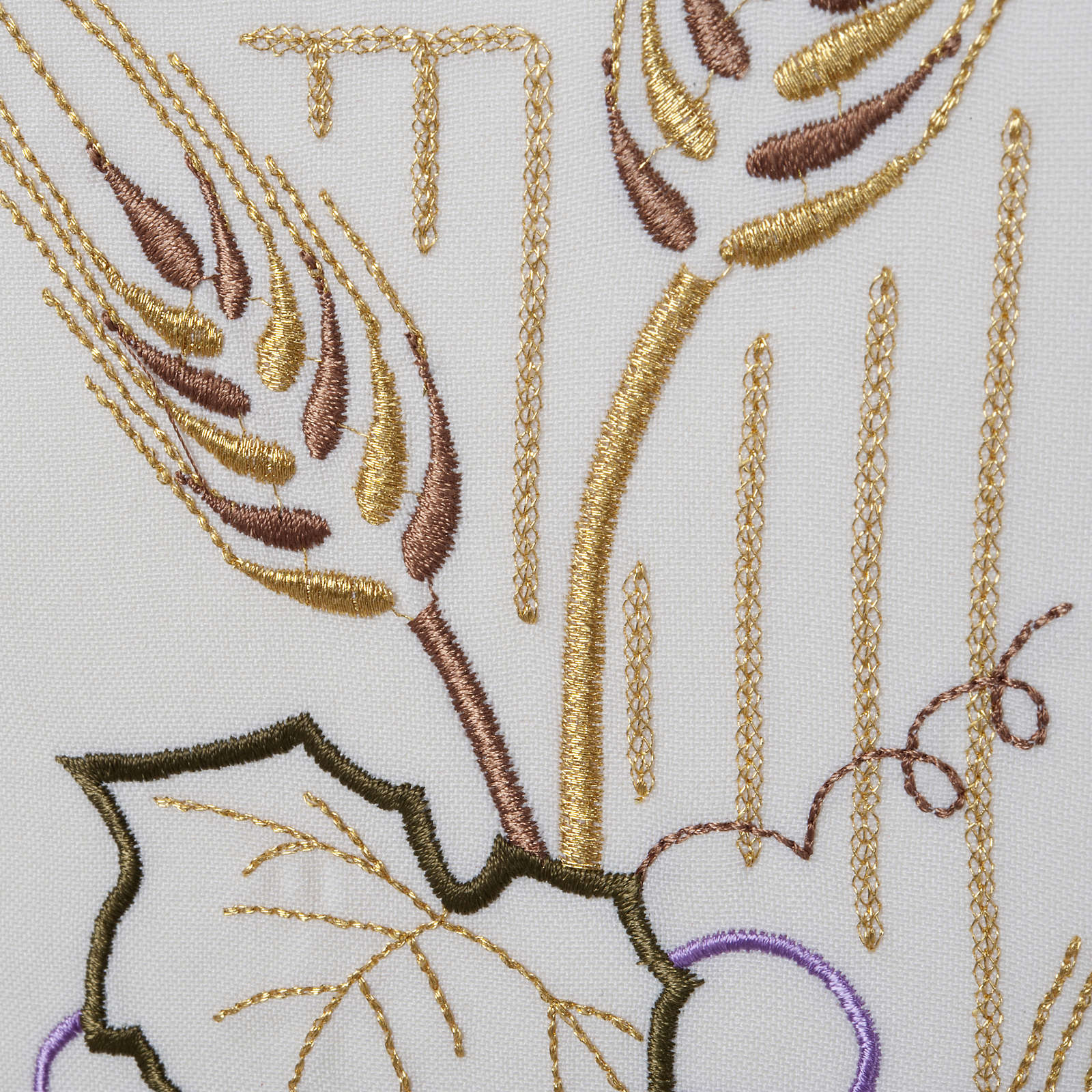 Lectern Cover, stylized cross, grapes, wheat, in liturgical colo 4
