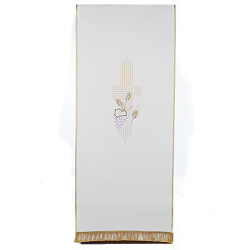 Lectern Cover, stylized cross, grapes, wheat, in liturgical colo s1