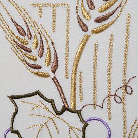 Voile de lutrin croix stylisée épis raisins couleurs liturgiqu s3