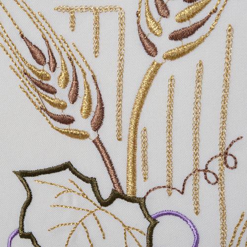 Voile de lutrin croix stylisée épis raisins couleurs liturgiqu 3
