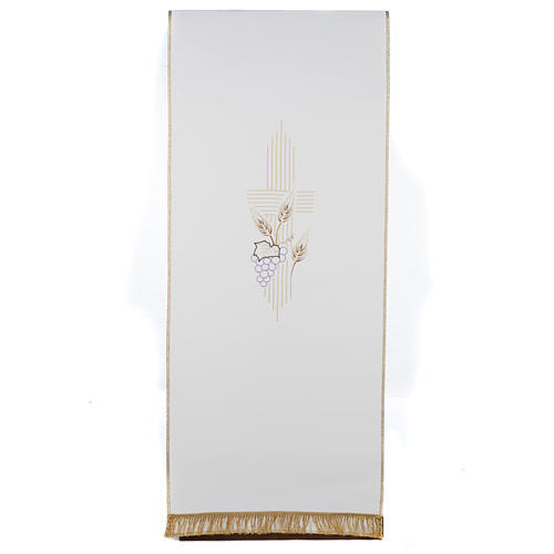 Coprileggio croce stilizzata spighe uva  colori liturgici 1