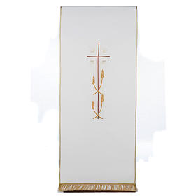 Lectern covers: Lectern Cover with cross and ears of wheat, different colours