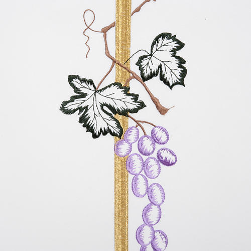 Lectern Cover with tall cross wheat and grapes, different colour 4
