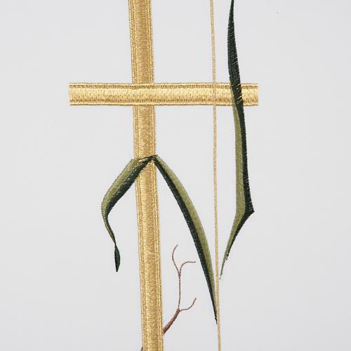 Cubre atril cruz alta espigas de colores 3