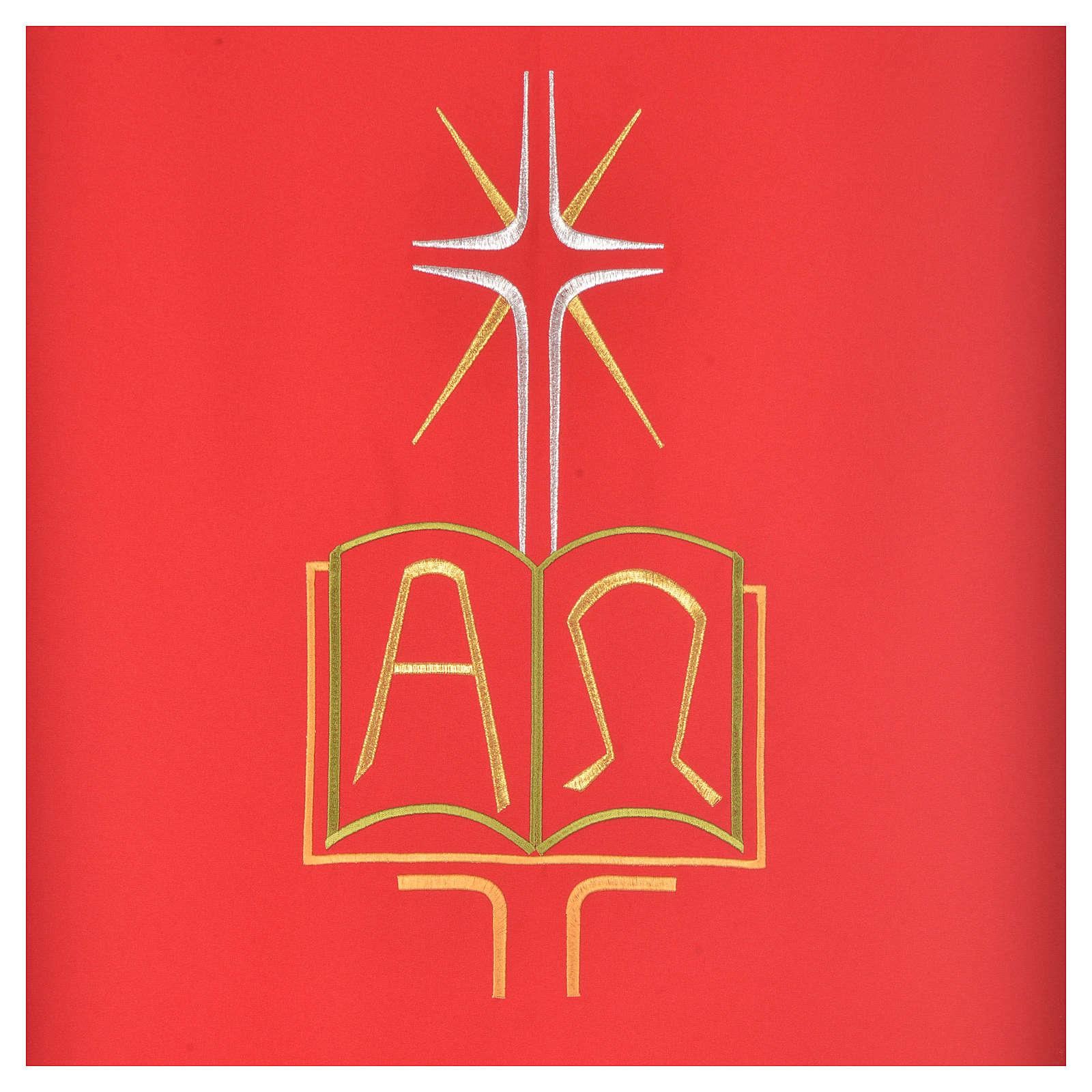 Voile de lutrin livre alpha et oméga polyester 4