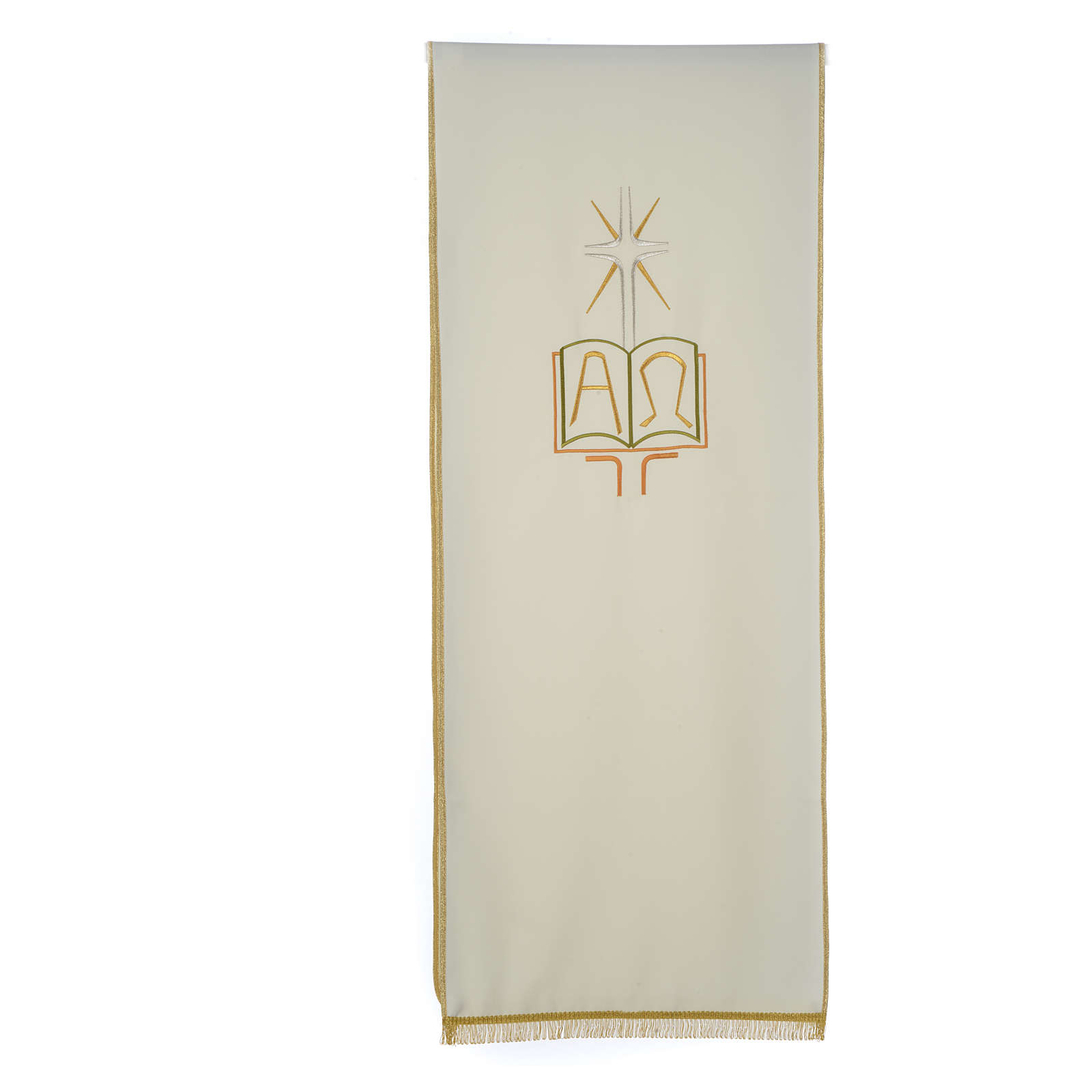 Pulpit cover with book Alpha and Omega 4