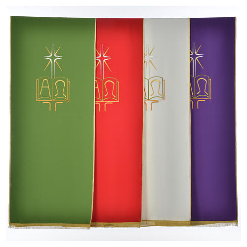 Pulpit cover with book Alpha and Omega 1