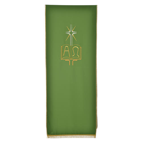 Pulpit cover with book Alpha and Omega 5