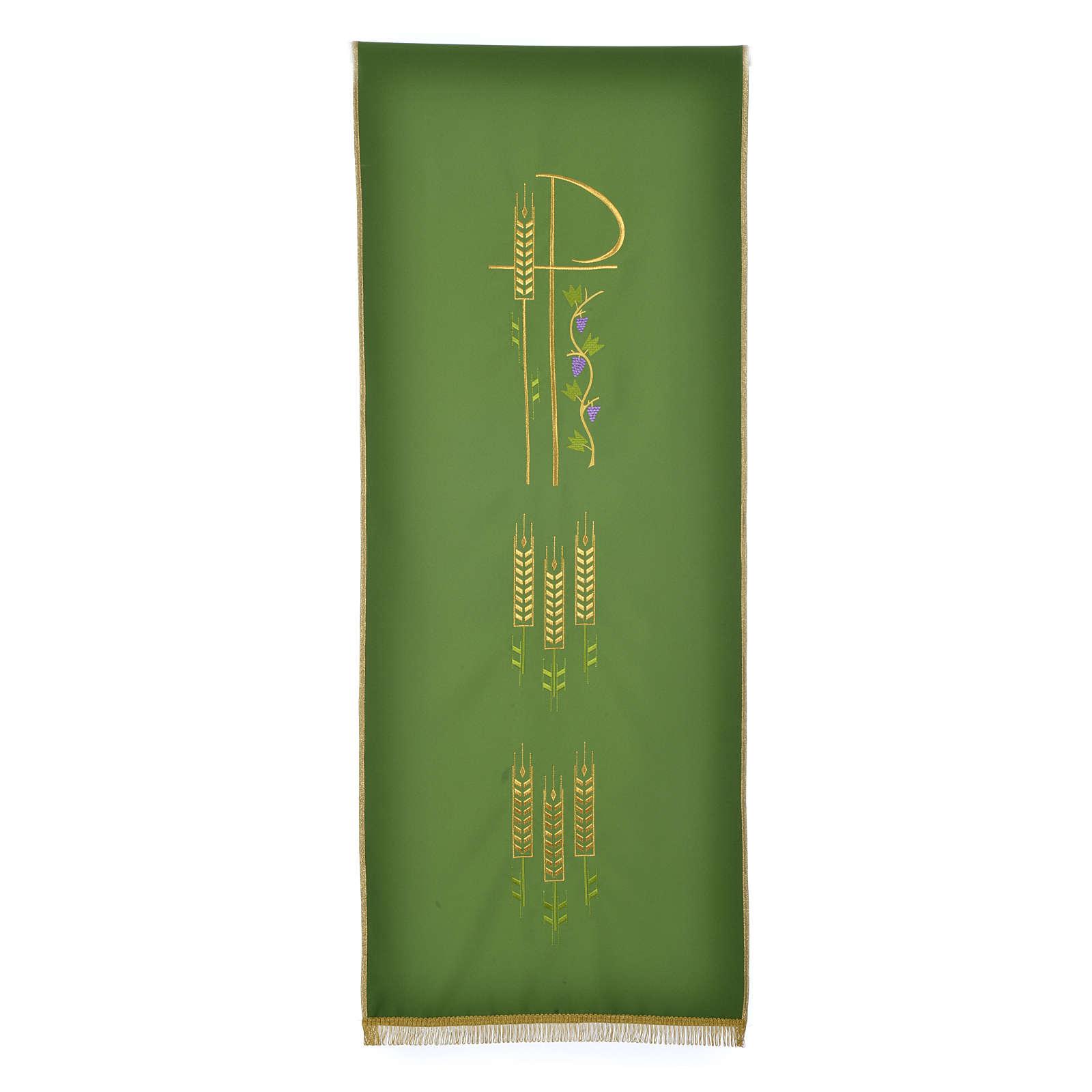 Voile de lutrin Chi-Rho épis et raisin polyester 4