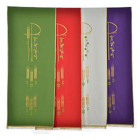Voile de lutrin Chi-Rho épis et raisin polyester s6