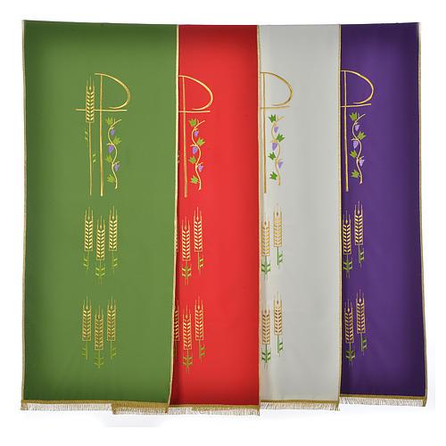 Voile de lutrin Chi-Rho épis et raisin polyester 1