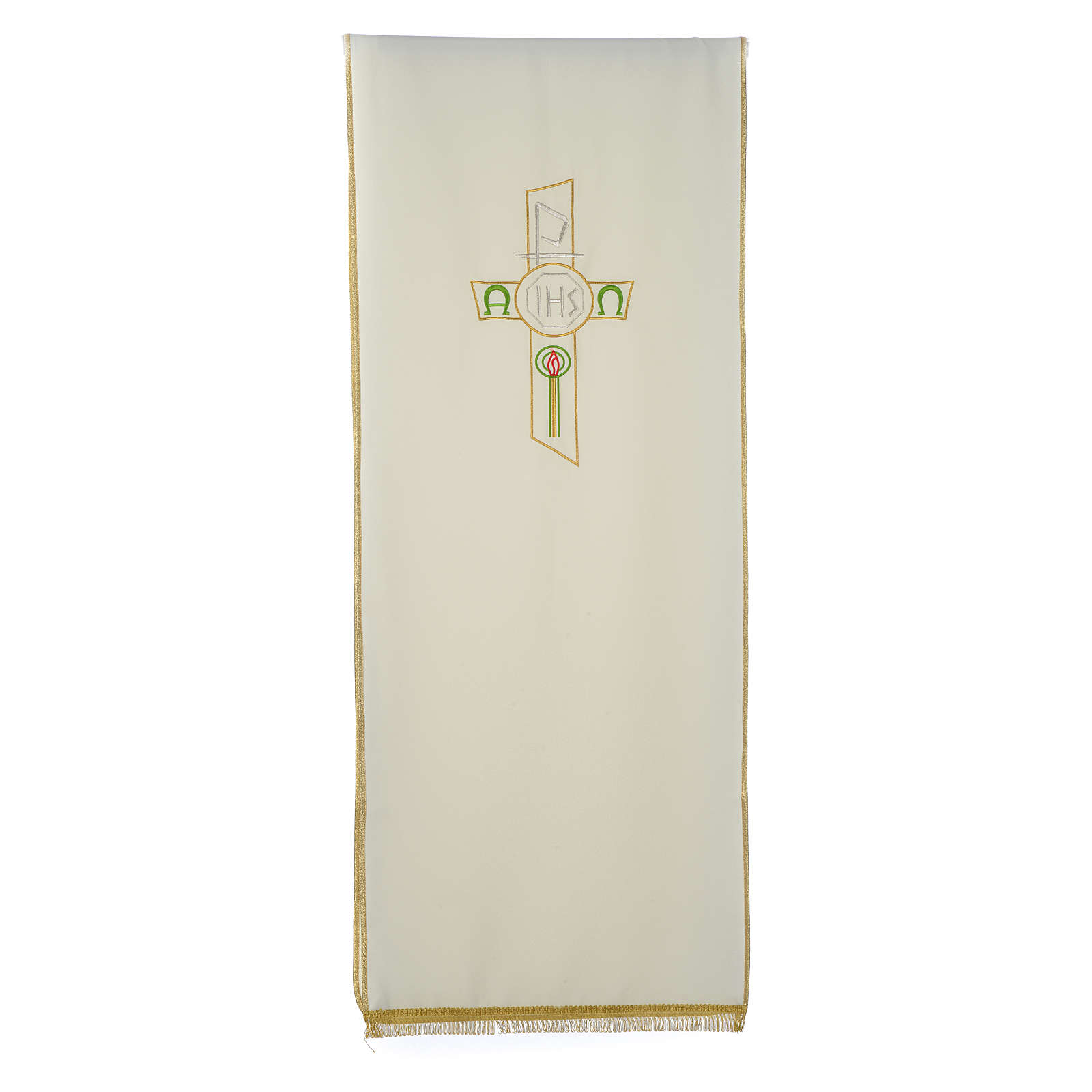 Lectern Cover in polyester, cross, Chi Rho, IHS, Alpha Omega 4