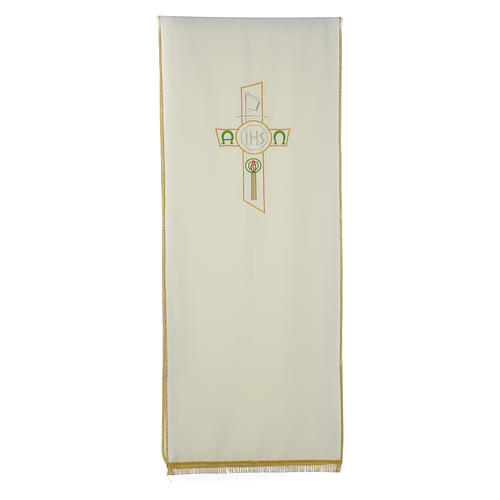 Lectern Cover in polyester, cross, Chi Rho, IHS, Alpha Omega 3