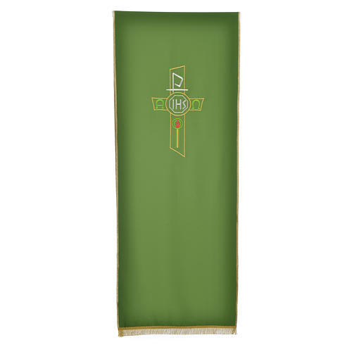Lectern Cover in polyester, cross, Chi Rho, IHS, Alpha Omega 5