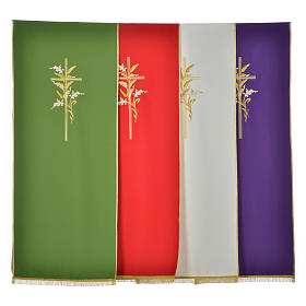 Lectern Cover in polyester with  cross and ears of wheat s1