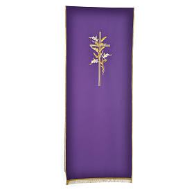 Lectern Cover in polyester with  cross and ears of wheat s2
