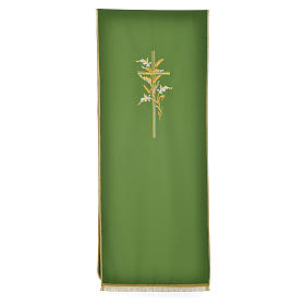 Lectern Cover in polyester with  cross and ears of wheat s5