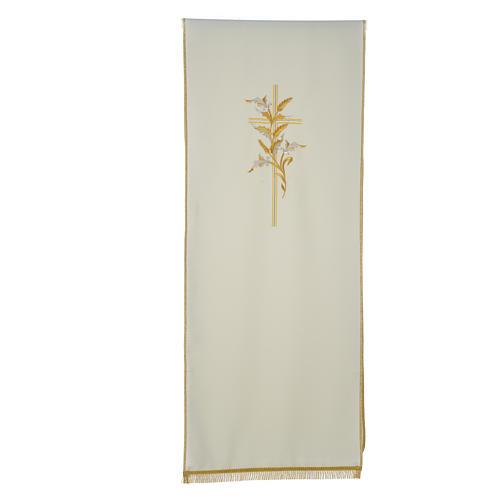 Voile de lutrin croix épis en tissu de polyester 3
