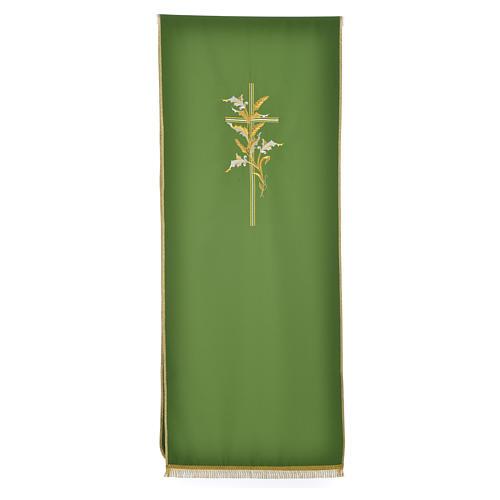 Voile de lutrin croix épis en tissu de polyester 5